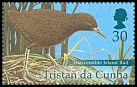 Cl: Inaccessible Island Rail (Atlantisia rogersi)(Endemic or near-endemic)  SG 700a (2001) 375