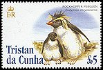 Cl: Rockhopper Penguin (Eudyptes chrysocome)(Repeat for this country)  SG 844 (2005)