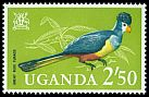 Cl: Great Blue Turaco (Corythaeola cristata) SG 123 (1965) 350