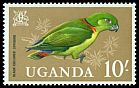 Cl: Black-collared Lovebird (Agapornis swindernianus) SG 125 (1965) 700