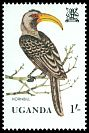 Cl: Eastern Yellow-billed Hornbill (Tockus flavirostris) SG 378 (1982) 15