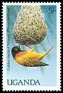 Cl: Golden-backed Weaver (Ploceus jacksoni) SG 587 (1987) 10