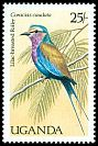Cl: Lilac-breasted Roller (Coracias caudata)(Repeat for this country)  SG 590 (1987)