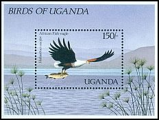 Cl: African Fish-Eagle (Haliaeetus vocifer)(Repeat for this country)  SG 595a (1987)