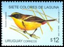 Cl: Many-coloured Rush-Tyrant (Tachuris rubrigastra) <<Siete Colores de Laguna>> (Repeat for this country)  SG 3162 (2009) 550 [6/27]