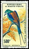 Cl: Abyssinian Roller (Coracias abyssinica) SG 157 (1965) 2300