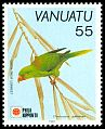 Cl: Palm Lorikeet (Charmosyna palmarum)(Endemic or near-endemic)  SG 579 (1991) 70