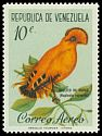 Cl: Guianan Cock-of-the-rock (Rupicola rupicola) <<Gallito de Rocas>>  SG 1698 (1961) 130