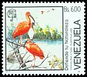 Cl: Scarlet Ibis (Eudocimus ruber) <<Corocoro Rojo>> (Repeat for this country)  SG 2770 (1988) 110