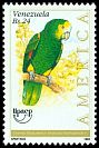 Cl: Yellow-shouldered Parrot (Amazona barbadensis) <<Cotorra Margarite&ntilde;a>>  SG 3049 (1993) 85