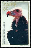 Cl: White-headed Vulture (Trigonoceps occipitalis) <<Vautour a tete blanche>>  SG 1142 (1982) 200