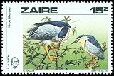 Cl: Black-crowned Night-Heron (Nycticorax nycticorax) <<H&eacute;ron Bihoreau>>  SG 1240 (1985) 65